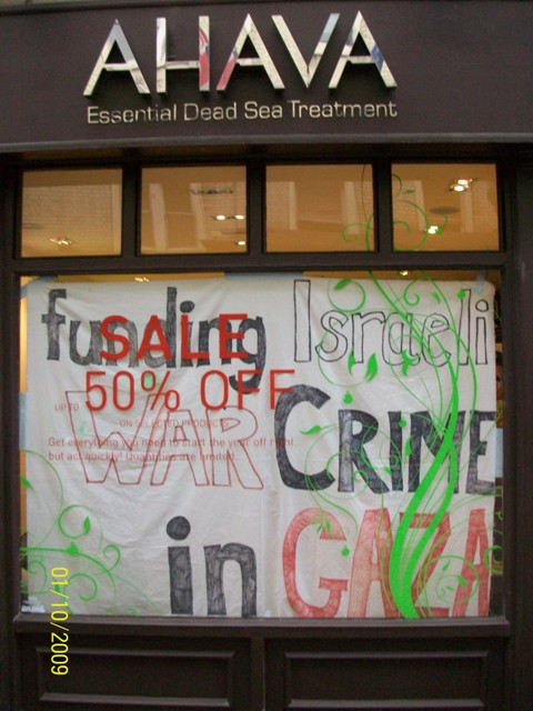 Ahava store in London occupied by activists