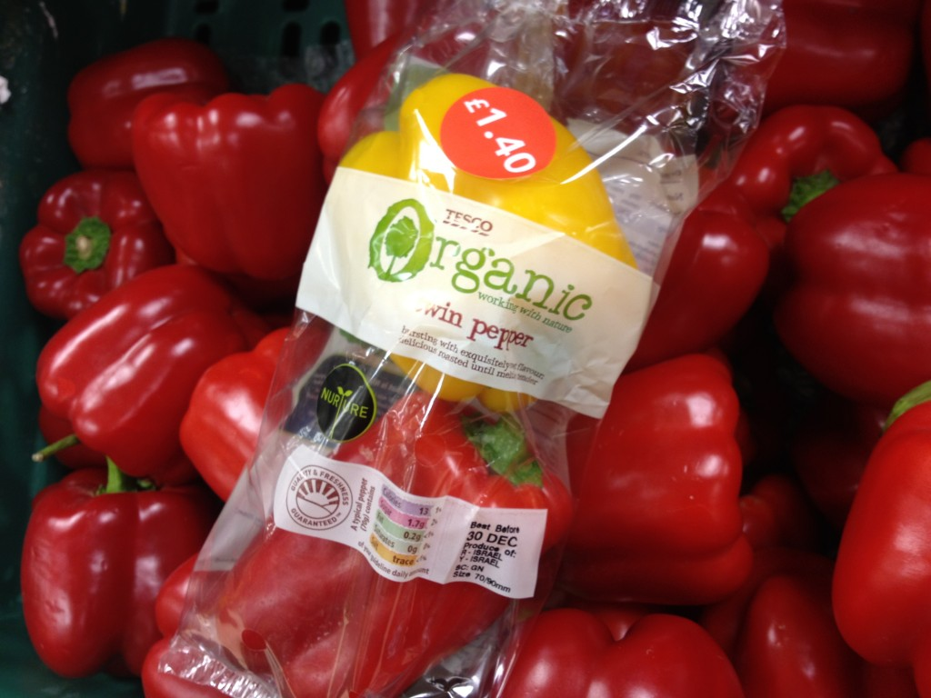 Tesco Organic Twin Pepper