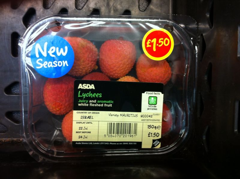 Asda Lychees 150g