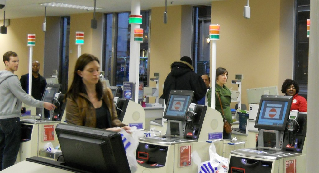 As always, the action attracted a lot of attention from customers and staff.