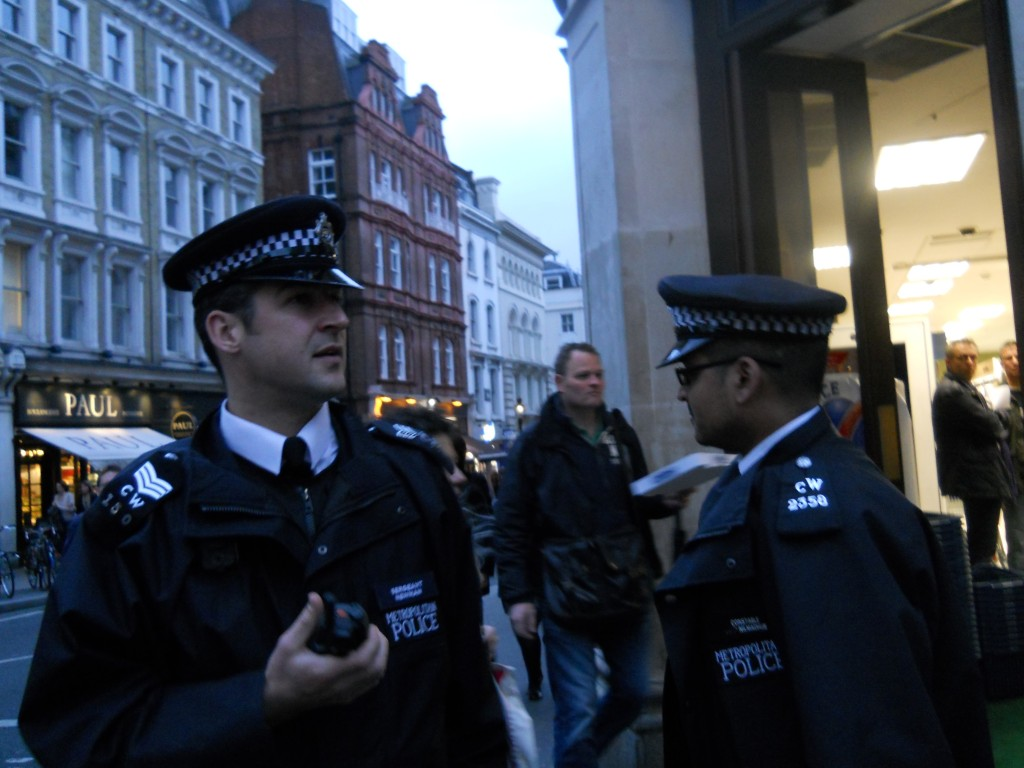 The police turned up, but took no further action aside from asking us why we were here.